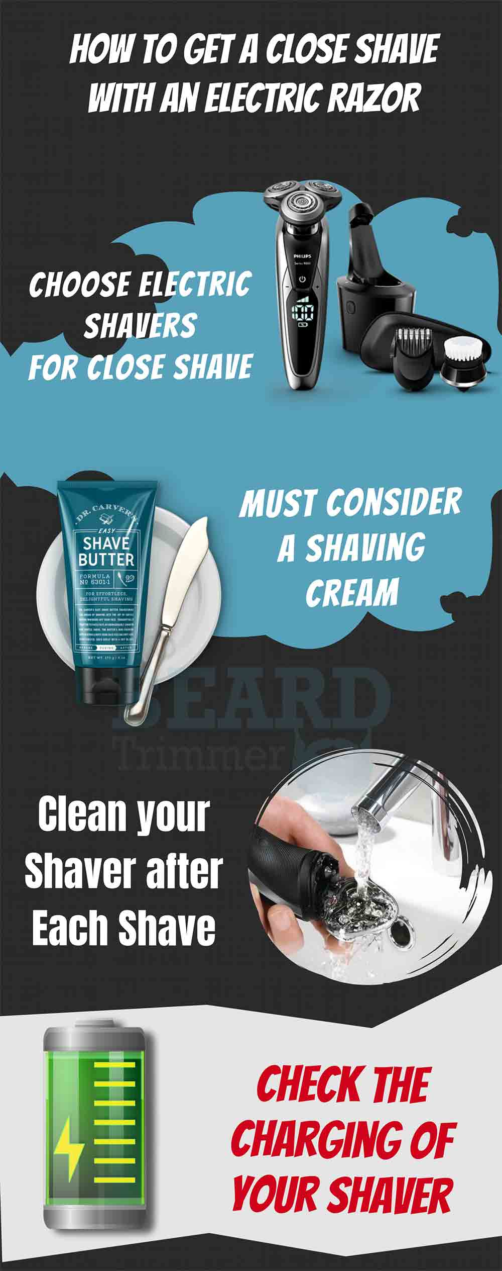Some Amazing Tips to Get a Close Shave with an Electric Shaver